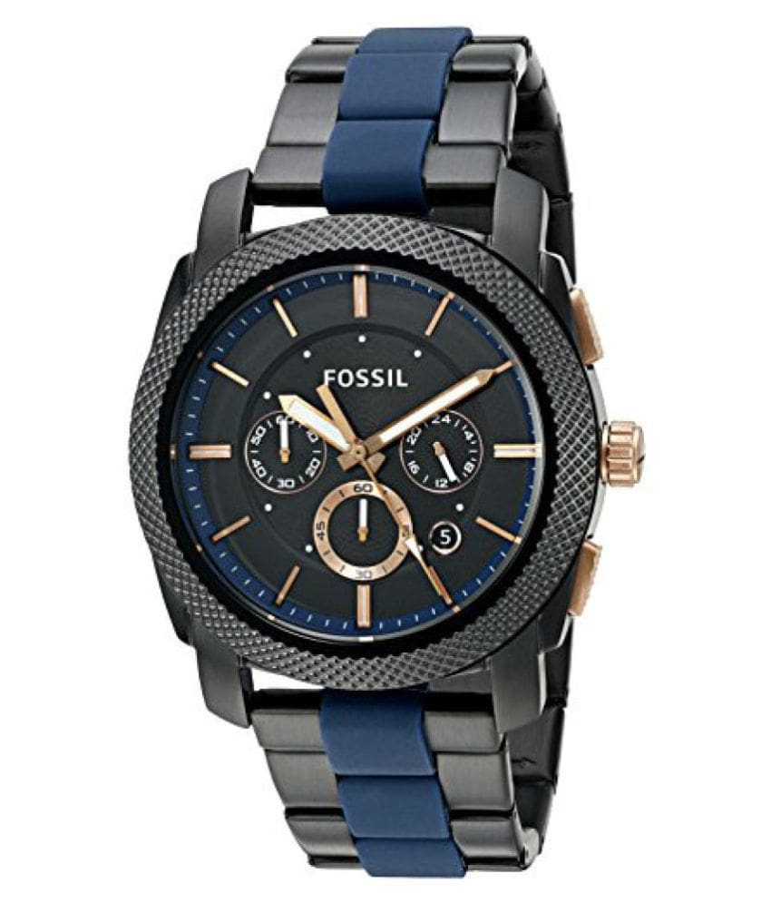 Fossil End-of-Season Chronograph Black Dial Men's Watch - FS5164