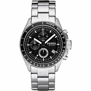 Fossil Decker Chronograph Analog Black Dial Men's Watch - CH2600IE